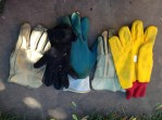 Mismatched gloves.