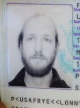 Lonny's expired passport from 1996. Cute photo, no? I'm keeping it.