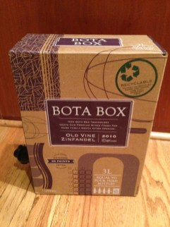 An empty box of boxed wine, just taking up space. RECYCLE.