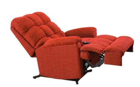 The recliner will assist you in getting upright.
