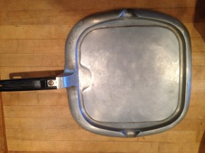 Why does anyone need a specialty size skillet? I keep a set of three Le Creuset pots and pans (from a garage sale, natch) on my stove and I can make everything with just those. A special pan for pancakes? DONATE.