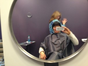 I got away for an hour to get my hair cut with Penny