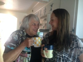 Coffee with Grandma and Becky