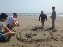 Skee Ball on the beach