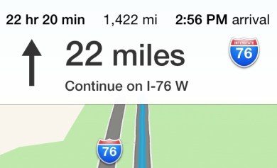That's 1,422 miles. One way.