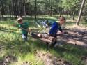 Hauling a log