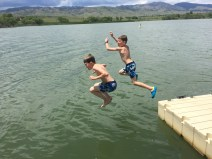 Swimming at the reservoir
