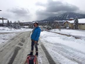 It was a snow day, no school