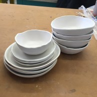 The first pieces came out of the kiln