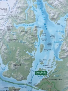 A map of Glacier Bay