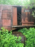 Abandoned machinery from a defunct mill