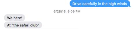 Safari Club Text