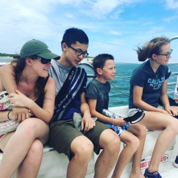 Catching the ferry to Shackleford Island