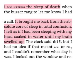 "From ""Norewegian Wood"" describing sleep of the dead"