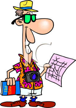 0511-0909-0422-1836_Cartoon_of_a_Tourist_on_Vacation_Holding_a_Map_clipart_image.png