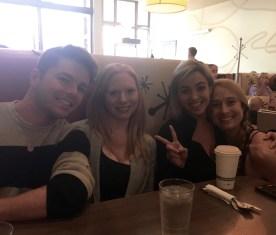 At Snooze with Shaina and Daisy