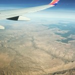 The Grand Canyon from cruising altitude