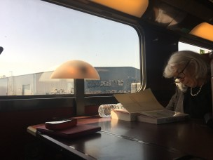 The train ride was so easy