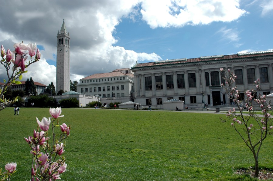 Doe Library and Campanile, Feb 18, 2005