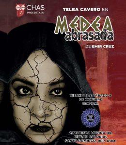 Telba Cavero con Medea Abrasada en Casa de Teatro