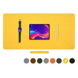 Vivegrace bureauonderlegger met ipad erop kleur geel