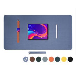 Vivegrace bureauonderlegger met tablet erop kleur blauw