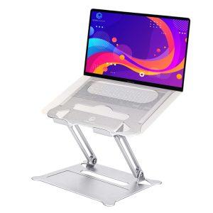 Vivegrace laptopstandaard met laptop kleur zilver