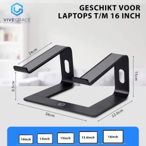 Vivegrace laptopstandaard zwart