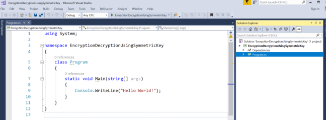 encryption and decryption in c#