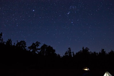 Stars over our camp site just before sun rise