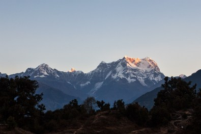 Chaukhamba is blessed by first rays of the sun