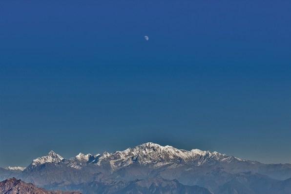 Moonrise over Nandadevi and Trishul peaks