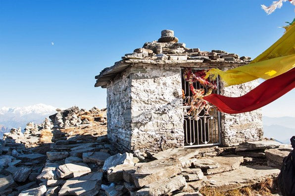 Temple at the top of Chandrashila