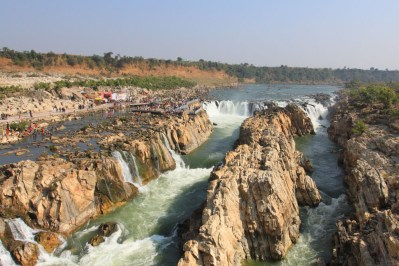 Aerial view of the Dhuandhar Falls