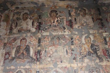 Paintings depicting Buddha in deep meditation