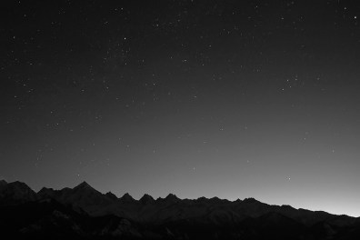 Dawn breaks over Panchchuli