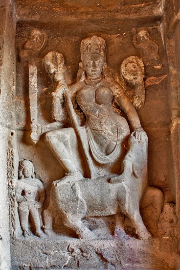 Maa Durga killing demon buffalo