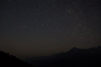 Stars at pre-dawn alongwith Andromeda Galaxy