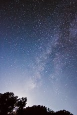 Milky Way Galaxy with moon's silver touch