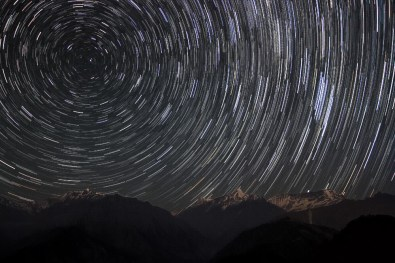 Startrails over Nanda Kot(6861m) and Laspadhura(5913m)