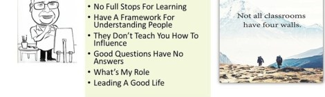 Seven Lessons in the Classroom Without Walls
