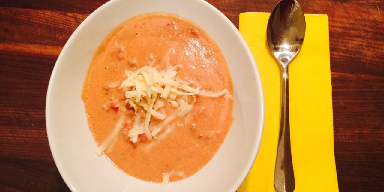Soupe taco mexicaine à la mijoteuse Keto cétogène