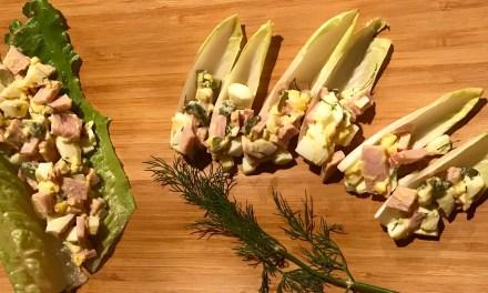 Salade d'oeufs et jambon Keto cétogène