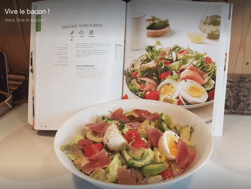 Salade d'oeufs, tomates et avocats