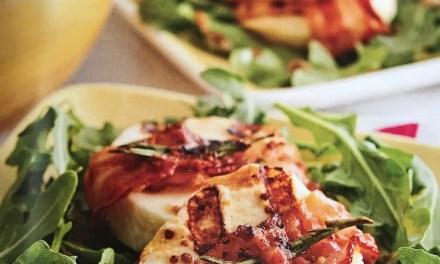Fromage haloumi bardé de bacon