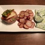 tartare de boeuf et salami hongrois piquant