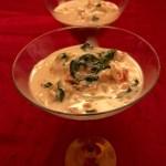 Martini de crevettes crémeuses à la toscane