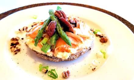 Portobello au saumon fumé et fromage à la crème