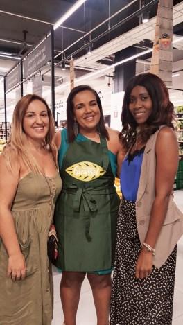 Filomena Pinto, responsável da Fazenda Girassol, Irene Domingos e a blogger Teresa Cândida