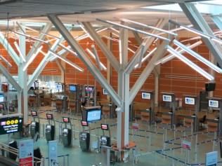 Área de checkin no aeroporto de Vancouver